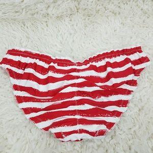 Xhilaration Swim - Red White Striped Bikini Cheeky
